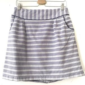 Anthropologie Purple Plaid Gingham Skirt Size 8